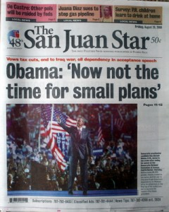 Aug. 29, 2008 was the final issue of the San Juan Star