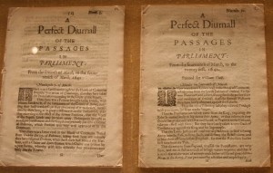 Early account of Parliamentary proceedings