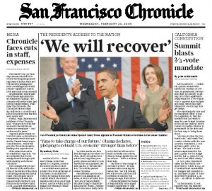 San Francisco Chronicle 2-25-09