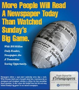 Newspaper Project ad