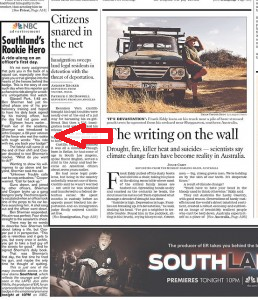 LA Times front-page ad